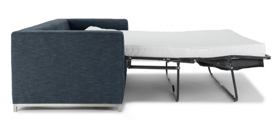 Article Soma Sofa in Midnight Blue with mattress out